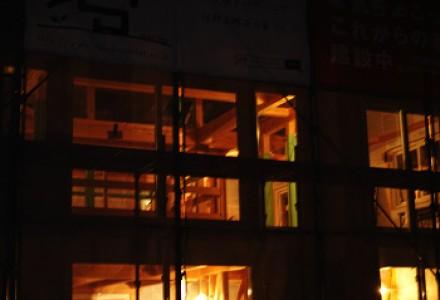 構造見学会 前夜-八千代緑が丘の家