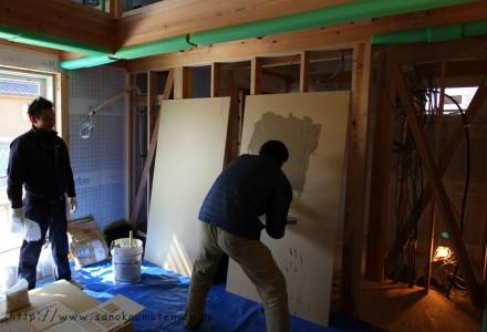 塗り壁体験教室-八千代緑が丘の家