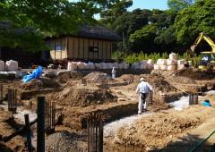 地業工事中 at 旧鴇田家住宅
