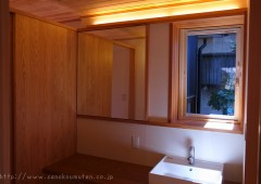 洗面化粧台の鏡