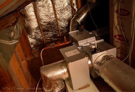 OMソーラー旧型ハンドリング交換+エアフォール設置