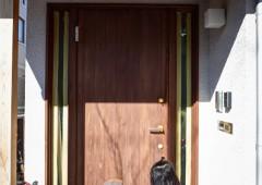 木製玄関ドアのメンテ 20170219