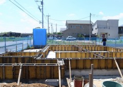 基礎工事:立上りコンクリート打設完了@草深の家